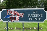 sign for Fairway Club Condo