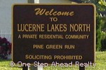 sign for Lucerne Lakes North